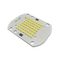 Сверхъяркая светодиодная LED матрица 50Ватт SMD3030 50Led 25-45V 60*40mm