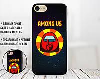 Силиконовый чехол Амонг Ас Красный (Among Us Red) для Apple Iphone 7 plus_8 plus , фото 1