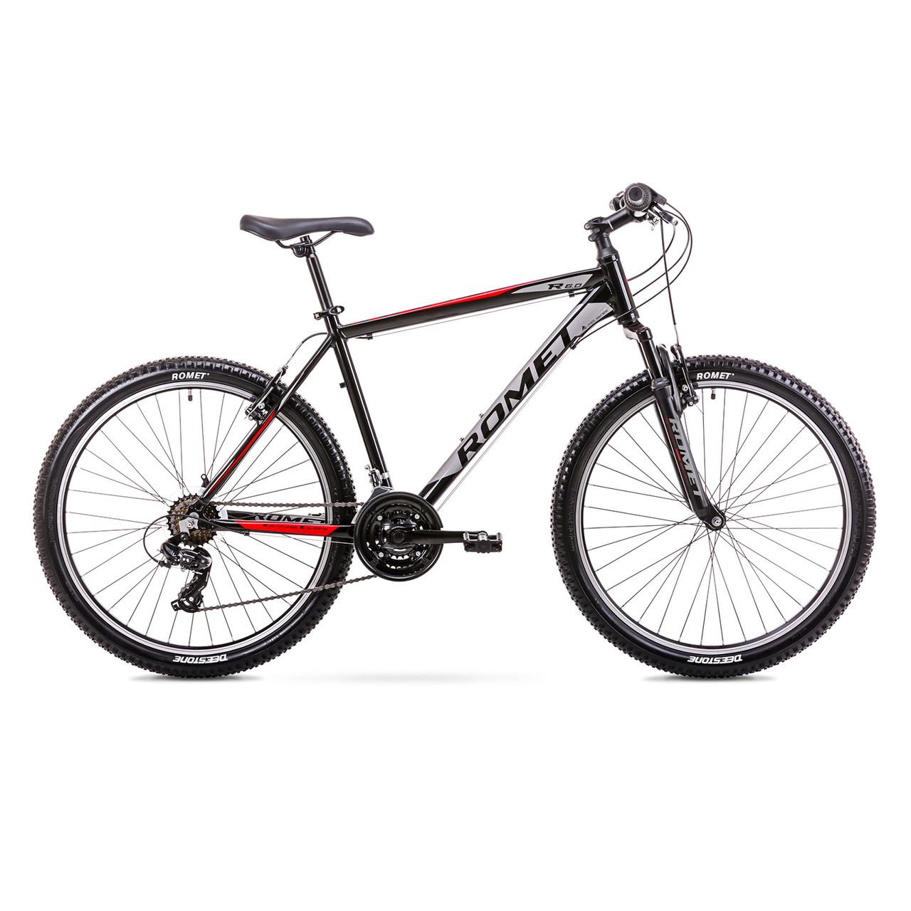 Велосипед ROMET 19 Rambler R6.0 Black Red 14 S