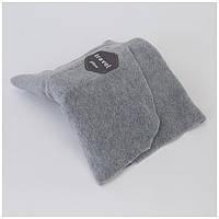 Подушка для путешествий Travel pillow Серая  (RZ096)