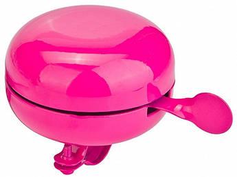 Звонок на велосипед 80мм рожевий