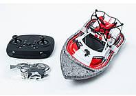 Катер Машинка Квадрокоптер Игрушка на радиоуправлении 3 в 1 Красная (RZ139)
