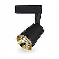Светодиодный трековый светильник Feron AL111 10W черный-золото, фото 1