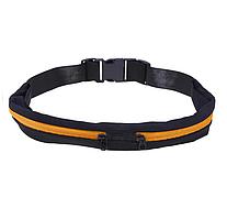 Спортивная сумка для бега поясная сумка для телефона водонепроницаемая велосипедная для улицы черно-оранжевый