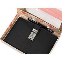 Блокнот-ежедневник с кодовым замком CAGIE Biz 96 Черный (RZ488)