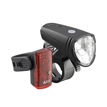 Комплект фонариков AXA Greenline front 15 lux & rear USB 1 led on/off