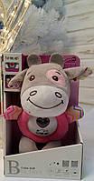 """М'яка іграшка FM 888-1 """"Корівка"""" (рожева); FM 888-2 """"Ослик"""" (блакитна) підсвічування, звуки, мелодії, нічник, фото 1"""