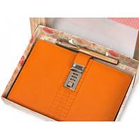 Блокнот-ежедневник с кодовым замком CAGIE Biz 96 Оранжевый (RZ487)
