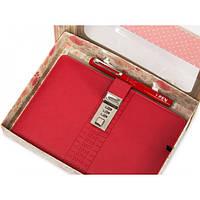 Блокнот-ежедневник с кодовым замком CAGIE Biz 96 Красный (RZ489)