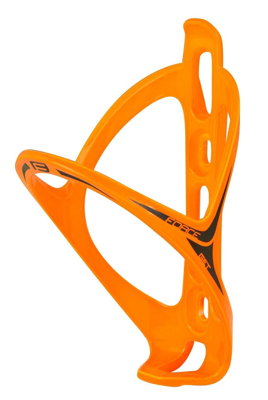 Держатель для фляги FORCE GET пластик orange blk
