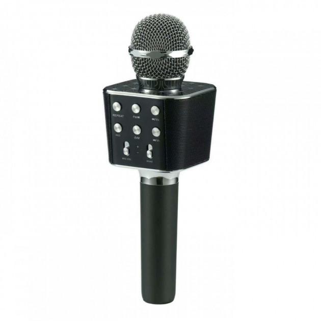 Микрофон караоке беспроводной Wster WS-1688 Black  (RZ550)