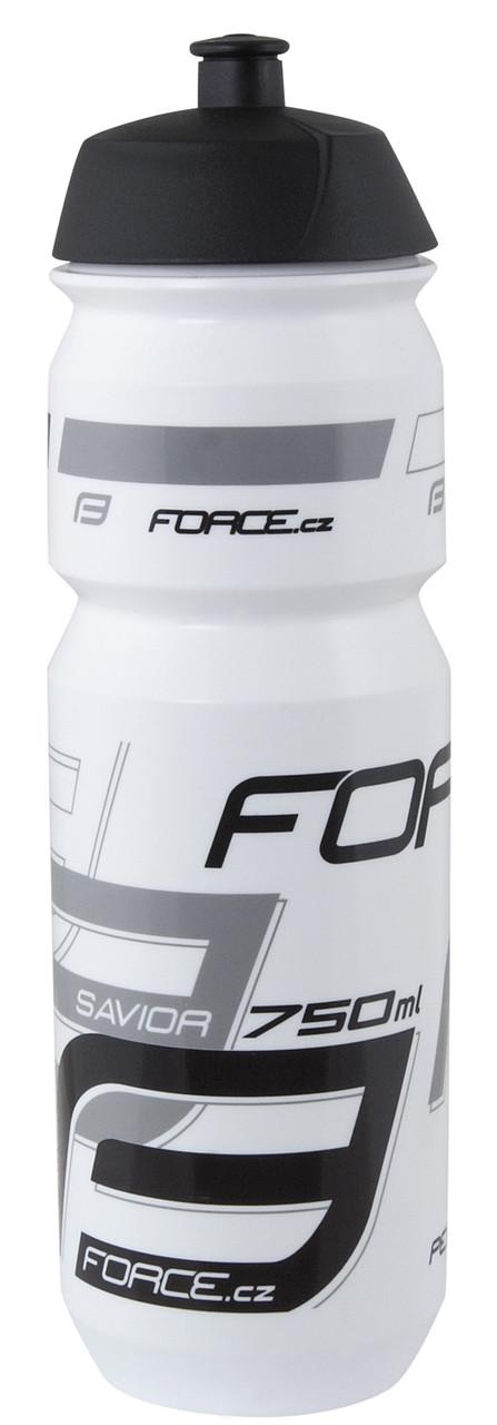 Фляга для велосипеда FORCE SAVIOR 0,75 л, (wht-grey-blk) . Велофляга