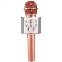 Беспроводной микрофон для караоке Wster WS-858 Pink  (RZ559)
