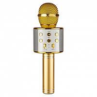 Беспроводной микрофон для караоке Wster WS-858 Gold  (RZ560)