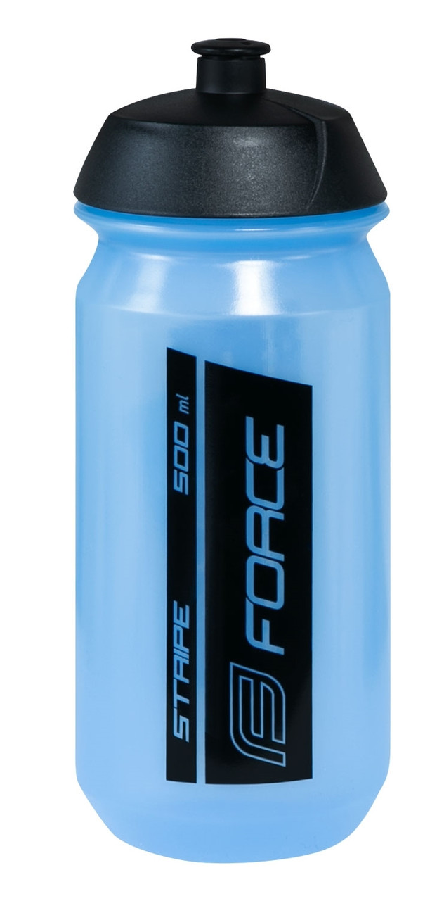 Фляга FORCE Stripe 0,5l. transparent/blue/blk