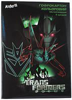 Гофрокартон цветной метализированный Transformers, 5 цветов А4, Kite