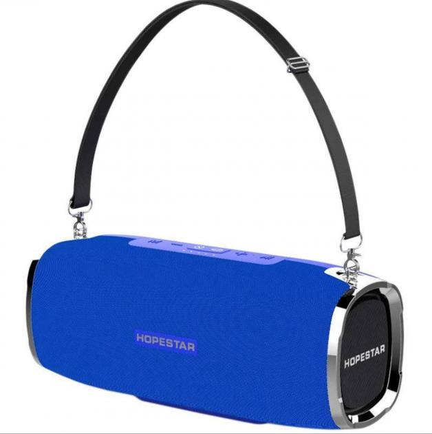 Портативная акустическая Bluetooth колонка Hopestar A6 синий  (RZ610)