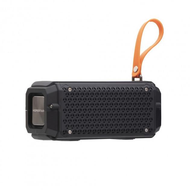 Портативная беспроводная влагозащищенная колонка Bluetooth Hopestar P17 Black  (RZ632)