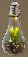 Светодиодная лампа ночник с установкой стекло h18см  1003978