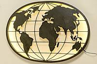 Настенный светодиодный ночник карта мира L99см  1003887