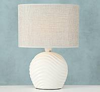 """Настольная лампа """"Волна"""" бежевая керамика 28*20 см (E14) Boltze 8095300"""