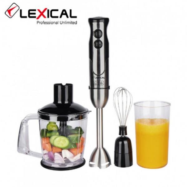 Многофункциональный ручной блендер 4в1 LEXICAL LHB-1605, 600 Вт, 2 скорости, Венчик, измельчитель, стакан