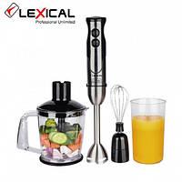 Многофункциональный ручной блендер 4в1 LEXICAL LHB-1605, 600 Вт, 2 скорости, Венчик, измельчитель, стакан , фото 1