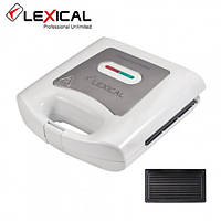 Электрическая сэндвичница LEXICAL LSM-2502 Антипригарное покрытие 800Вт White  (RZ703), фото 1