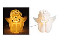 Светильник ночник Ангел белый керамика 24X14X22 см  10019478