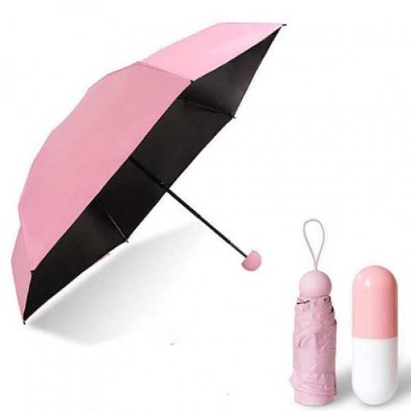 Мини зонт в чехле капсула Capsule Umbrella Розовый  (RZ761)