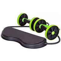 Тренажер колесо для пресса рук ягодиц спины и всего тела c 6-ю уровнями тренировки Revoflex Xtreme  (RZ763)