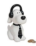 Скарбничка собака в навушниках кераміка 9X16X20 см 10012848, фото 1