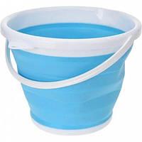 Ведро силиконовое туристическое складное для уборки и мойки Collapsible Bucket 5 литров  (RZ787)