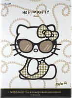 Гофрокартон цветной неоновый Hello Kitty Diva, 5 цветов А4, Kite