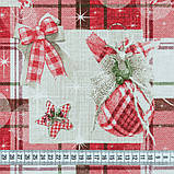 Декоративная новогодняя ткань Рождественский стол, фото 2