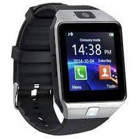 Умные смарт часы Smart Watch DZ09 мужские часы серебряные! Топ Продаж