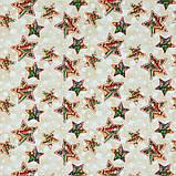 Декоративная новогодняя ткань Звезды, фото 3