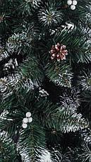 Елка искуственная  Элитная с калиной и шишкой ПВХ 2.2м (220см) Штучна ялинка Ялынка штучка Елка пвх зелена, фото 3