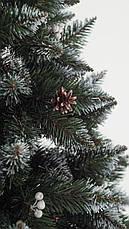 Елка искуственная  Элитная с калиной и шишкой ПВХ 2.2м (220см) Штучна ялинка Ялынка штучка Елка пвх зелена, фото 2
