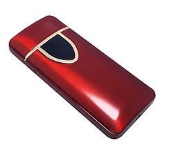 Спиральная сенсорная электрическая USB зажигалка Lighter Красная (ART 018-2), фото 2