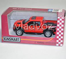 Машинка Ford Raptor Spercrew 150 1:32 метал красный, фото 3