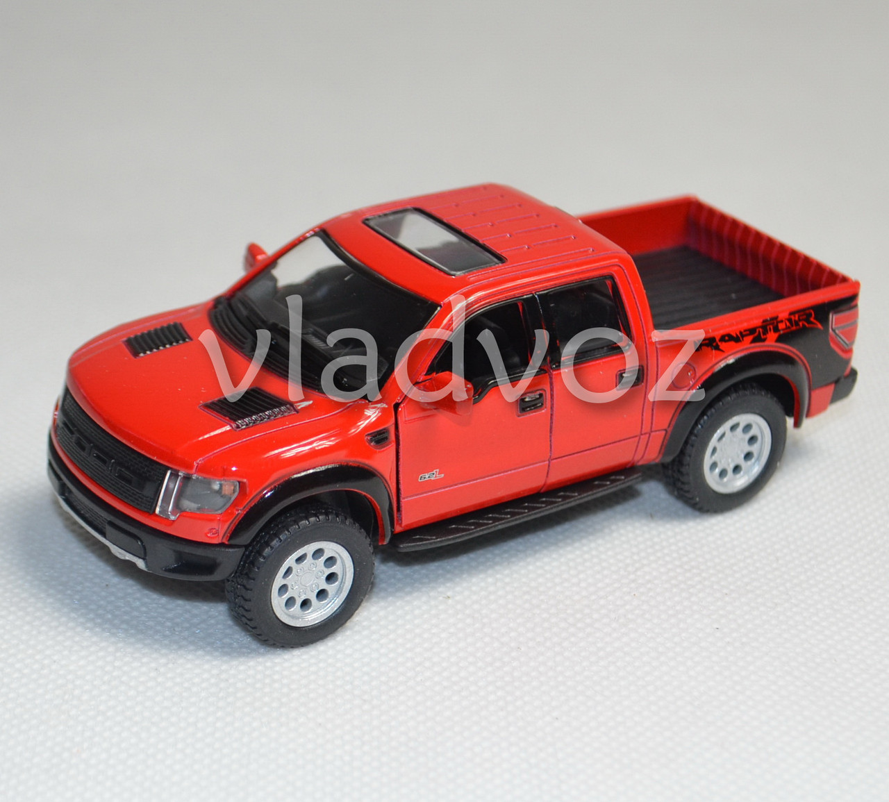 Машинка Ford Raptor Spercrew 150 1:32 метал красный