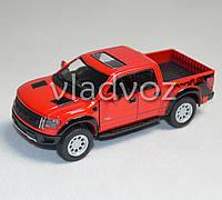 Машинка Ford Raptor Spercrew 150 1:32 метал красный