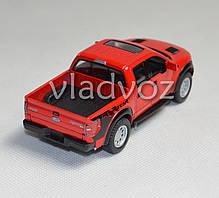 Машинка Ford Raptor Spercrew 150 1:32 метал красный, фото 2