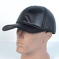 Мужская модная теплая кепка на флисе с ушками - КОЖЗАМ (черная)