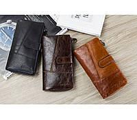 Оригінальний чоловічий шкіряний гаманець, фото 1
