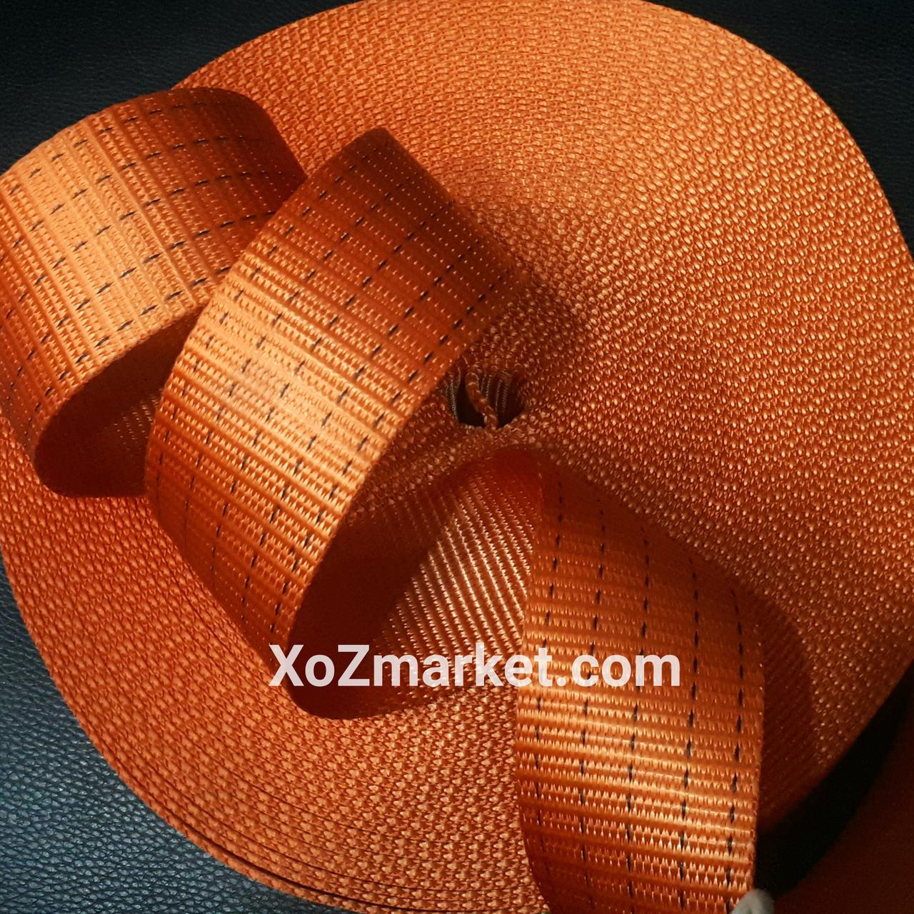 Лента полиэстеровая 5т х 25м х 50мм ➡️ Ременная стропа буксировочная ➡️ Лента для стяжных ремней