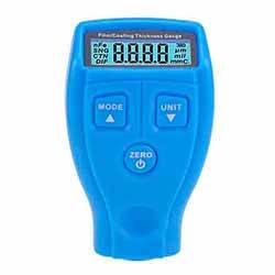Толщиномер GM200 - измеритель толщины лакокрасочного покрытия .(полный комплект) синий