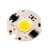 Светодиодный модуль COB LED 7W AC220V 27mm, фото 1