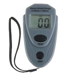 Толщиномер EM2271 - индикатор толщины лакокрасочных покрытий для автомобилей (любых типов краски) серый